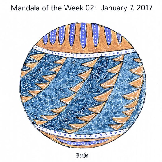 Beads Mandala in Color by me (Maureen Frank)