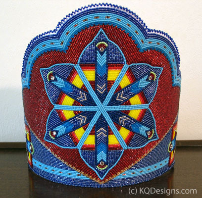 Native American Beaded Crown by KQDesigns.com