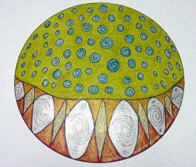 Cakes Mandala - iridescent gold