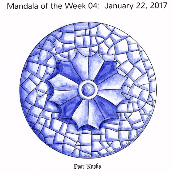 Door Knobs Mandala in Color by me (Maureen Frank)