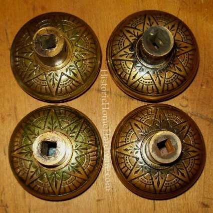 Back View: Antique Egyptian Motif Door Knob by Nashua