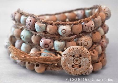 Rustic Wrap Bracelet by One Urban Tribe