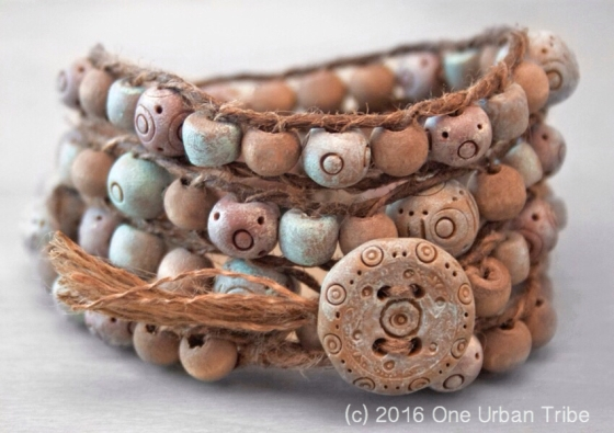 Rustic Wrap Bracelet by One Urban Tribe
