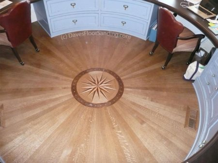 Medallion Wood Floor by DavesFloorSanding.com