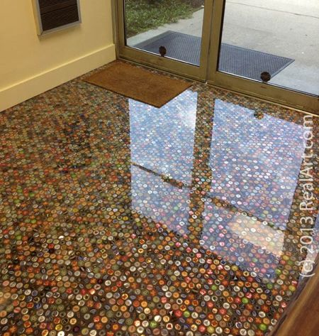 Bottle Cap Floor by RealArt.com