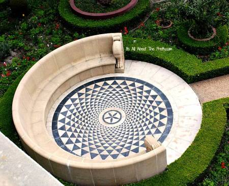 Stone Floor in Getty Villa Garden - source: ItsAllAboutThePretty.com