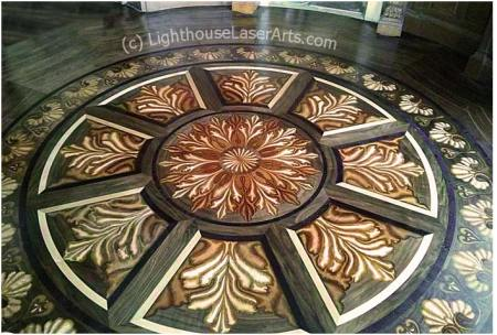 Tahari Library 3D Wood Inlay Floor - by LighthouseLaserArts.com