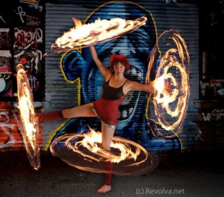 Revolva and her Fire Hoops - Revolva.net