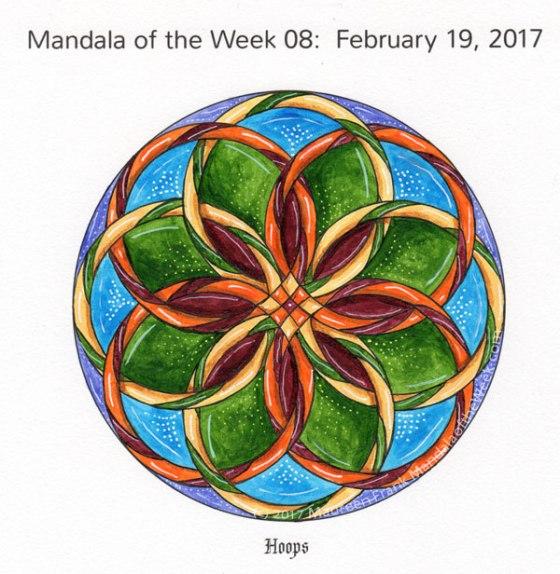 Hoops Mandala in Color by me (Maureen Frank)
