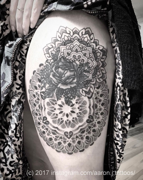 Two Mandalas by Aaron J Tattoos
