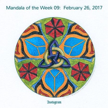 Instagram Mandala in Color by me (Maureen Frank)