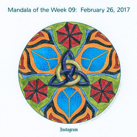 Instagram Mandala in Color by me (Maureen Frank)