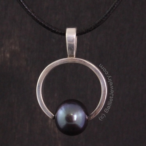 Silver and Pearl Pendant by BallietJewelry.com