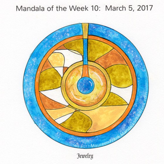 Jewelry Mandala in Color by me (Maureen Frank)