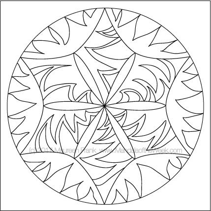 Kites Mandala to Color by me (Maureen Frank)