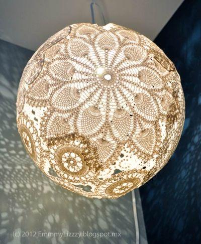 Doily Lamp by Emmmy Lizzzie