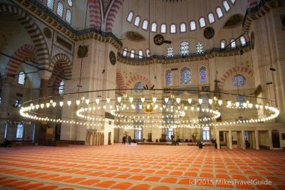 Suleymaniye Mosque, Instanbul, Turkey - source: MikesTravelGuide.com