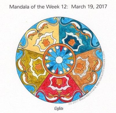 Lights Mandala in Color by me (Maureen Frank)