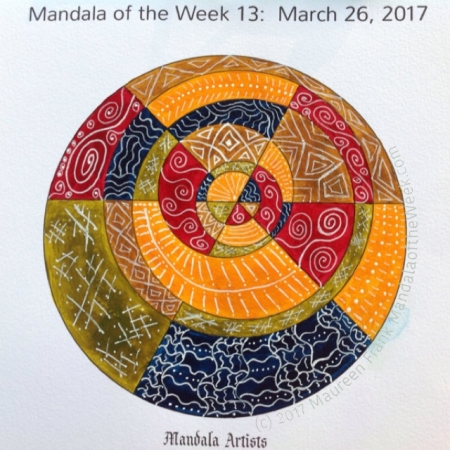 Mandala Artist Mandala in Color by me (Maureen Frank)