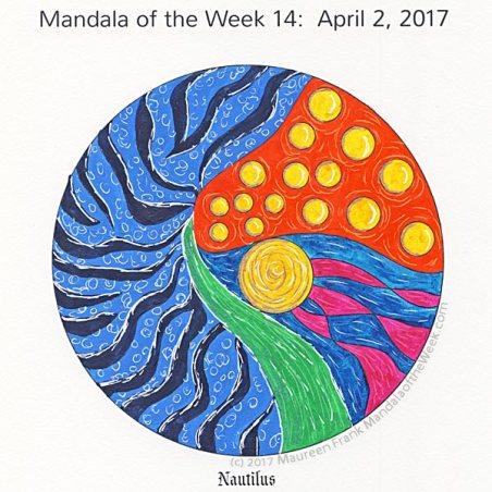 Nautilus Mandala in Color by me (Maureen Frank)