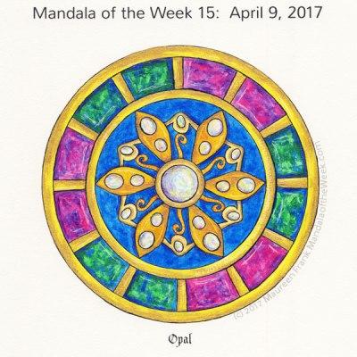 Opal Mandala in Color by me (Maureen Frank)