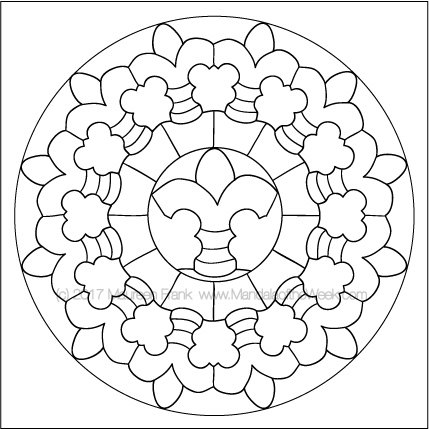 Plates Mandala to Color by me (Maureen Frank)