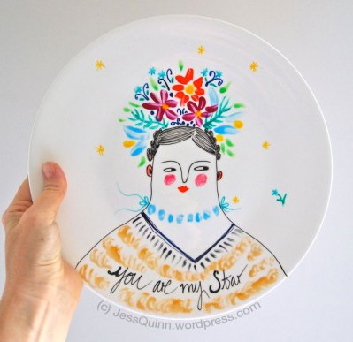 Hand-painted Plate by Jess Quinn