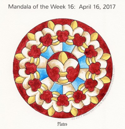 Plates Mandala in Color by me (Maureen Frank)