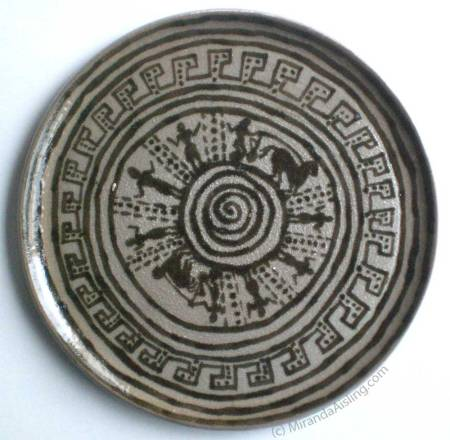 Thrown and Painted Greek Plate by MirandaAisling.com