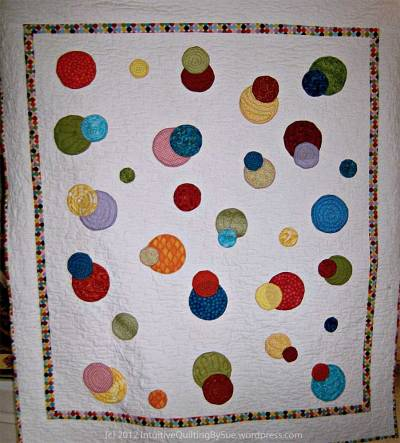 Polka Dots Quilt by Intuitive Quilting by Sue