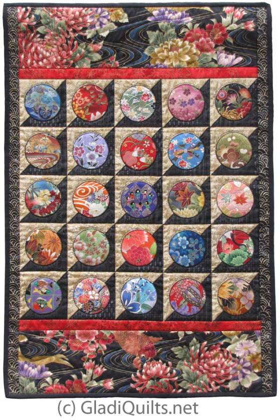 Japanese Geometry Quilt by GladiQuilts.net