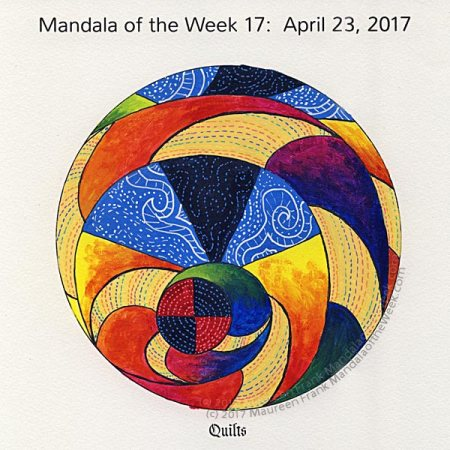 Quilts Mandala in Color by me (Maureen Frank)
