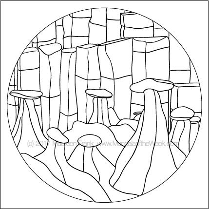 Rocks Mandala to Color - designed by me (Maureen Frank)