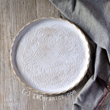 Vintage Lace Plate by Kim Wallace Ceramics