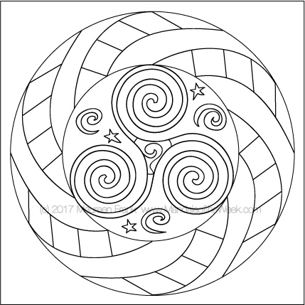 Spirals Mandala to Color - designed by me (Maureen Frank)