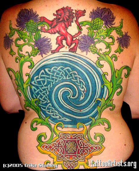 Celtic Spiral by Erika Stanley