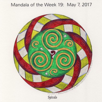 Spirals Mandala in Color by me (Maureen Frank)