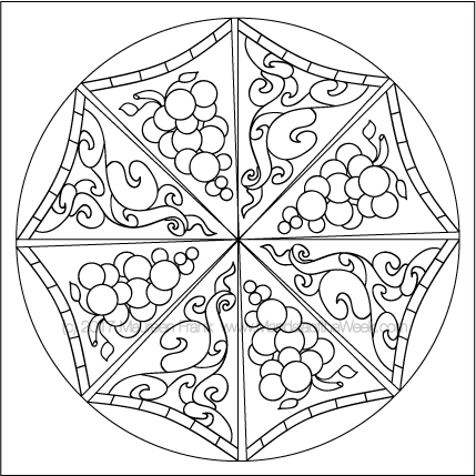 Umbrellas Mandala to Color - designed by me (Maureen Frank)