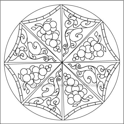 Umbrellas Mandala to Color - designed by me (Maureen Frank)