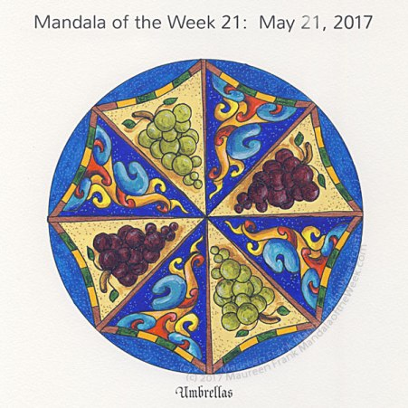Umbrellas Mandala in Color by me (Maureen Frank)