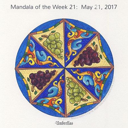 Umbrellas Mandala in Color by me (Maureen Frank)