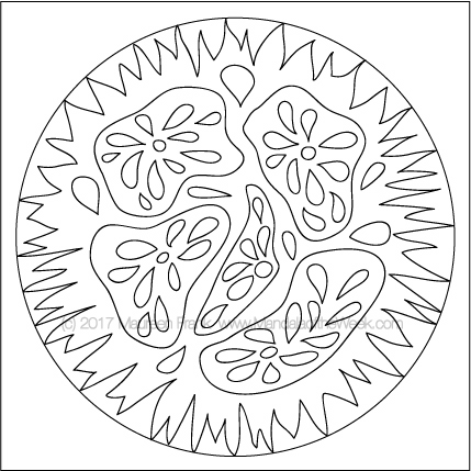 Veggies Mandala to Color - designed by me (Maureen Frank)