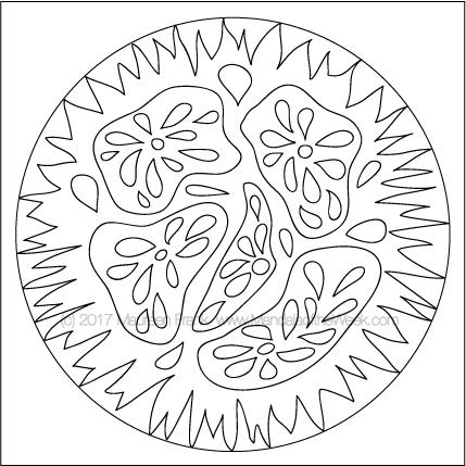 Veggies Mandala to Color - designed by me (Maureen Frank)