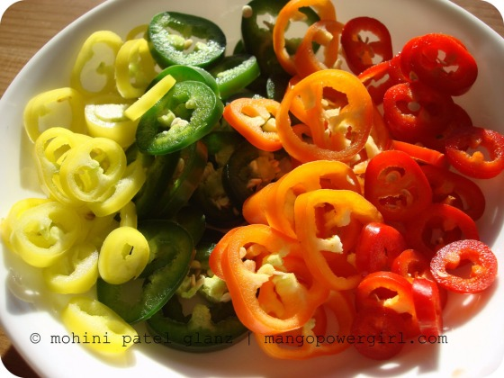 Colorful Pepper Slices - MangoPowerGirl.com
