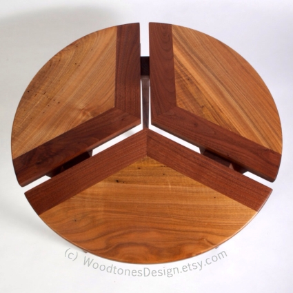 Three Section Wood Table by WoodtonesDesign.etsy.com