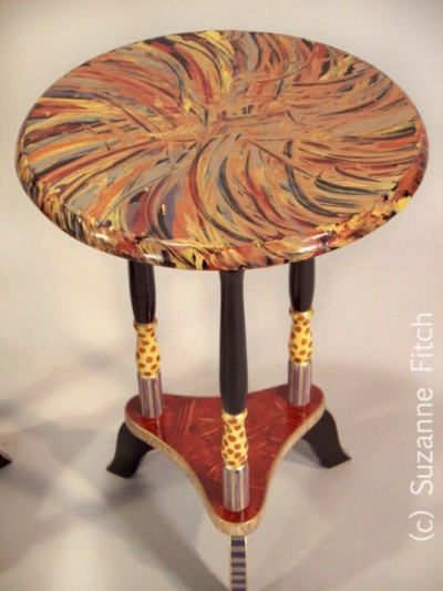 Round Tea Table by Suzanne Fitch