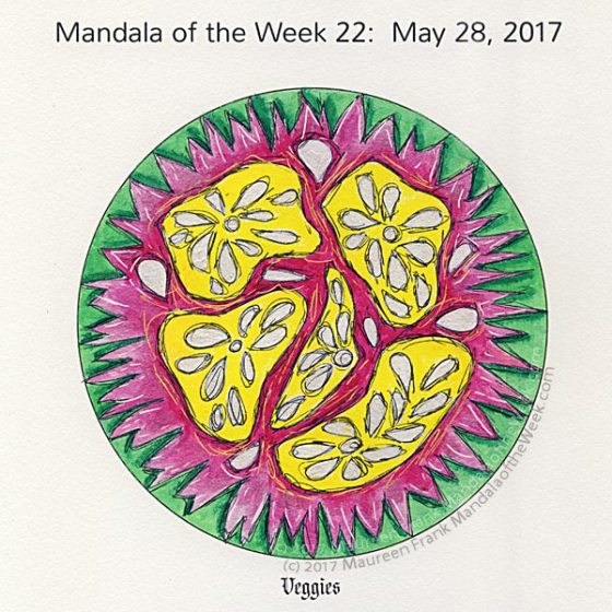 Veggies Mandala in Color by me (Maureen Frank)