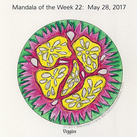 Veggies Mandala in Color by me (Maureen Frank)
