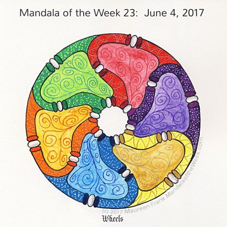 Wheels Mandala in Color by me (Maureen Frank)