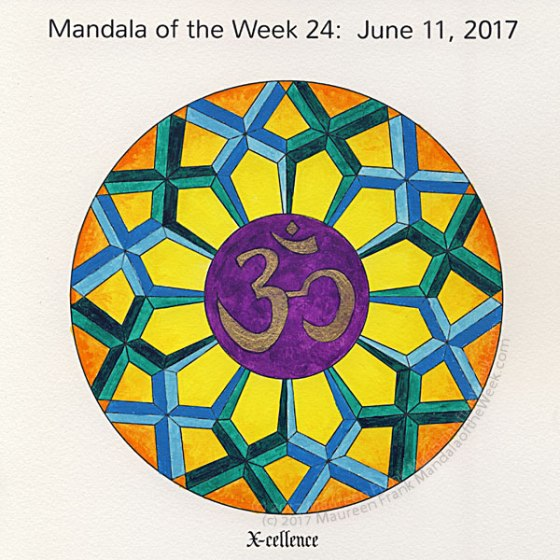 X-cellenceMandala in Color by me (Maureen Frank)